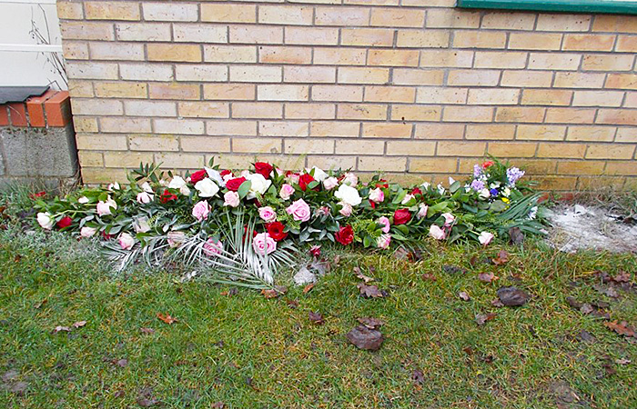 Floral tribute for David Boyde