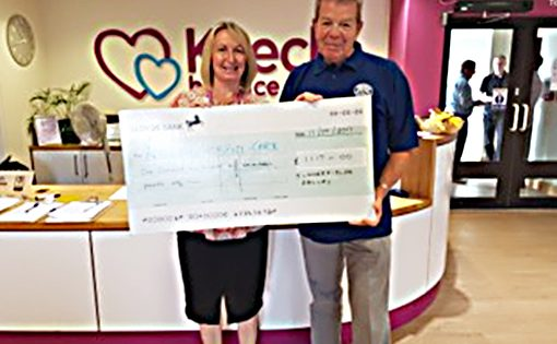 Charity day cheque